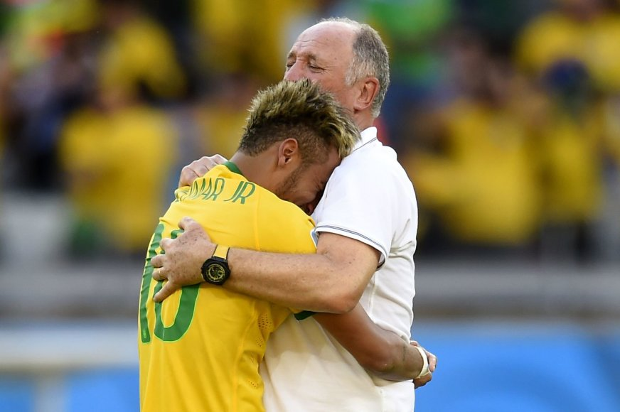 Neymaras ir Luizas Felipe Scolari