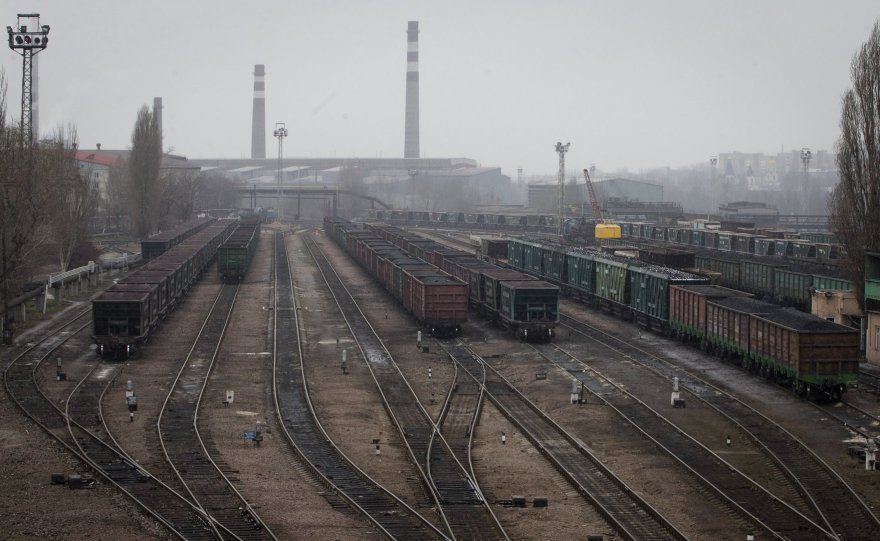 Geležinkelis prie Donecko plieno gamyklos