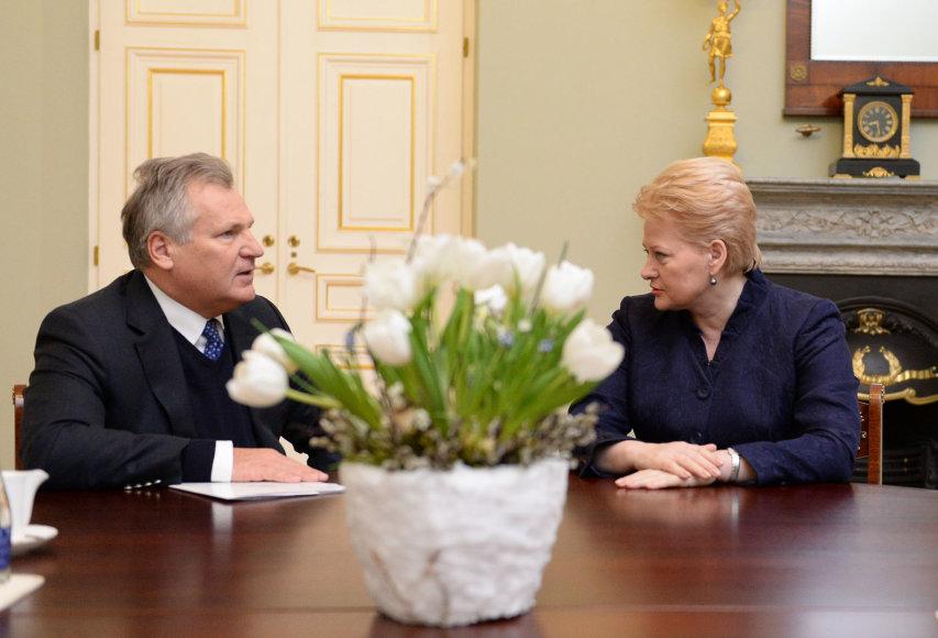 Dalia Grybauskaitė ir Aleksandras Kvasnievskis