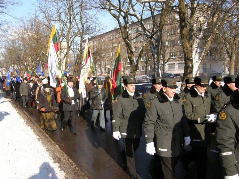 Vasario 16-osios eitynės Klaipėdoje 2012-aisiais.