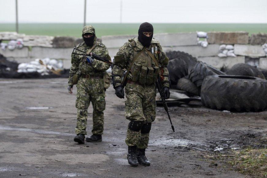 Ginkluoti prorusiški separatistai Slovjanske
