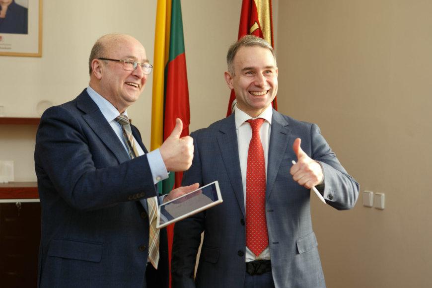 Visvaldas Matijošaitis ir Petras Masiulis