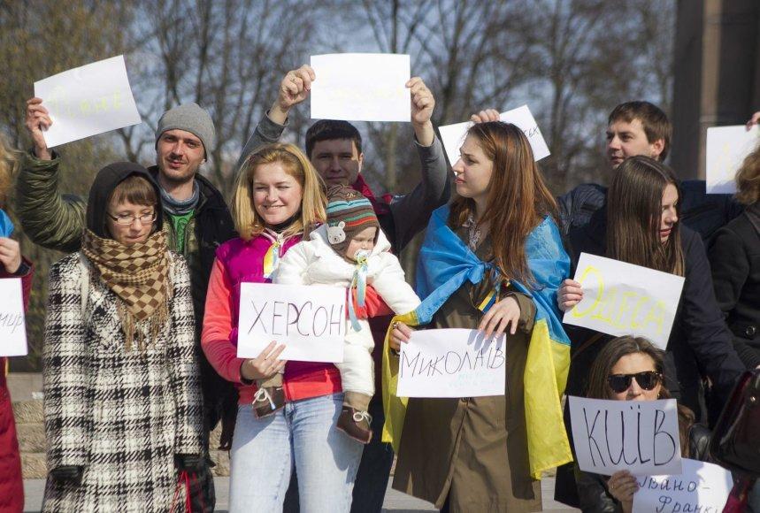 Studentų iš Ukrainos protestas