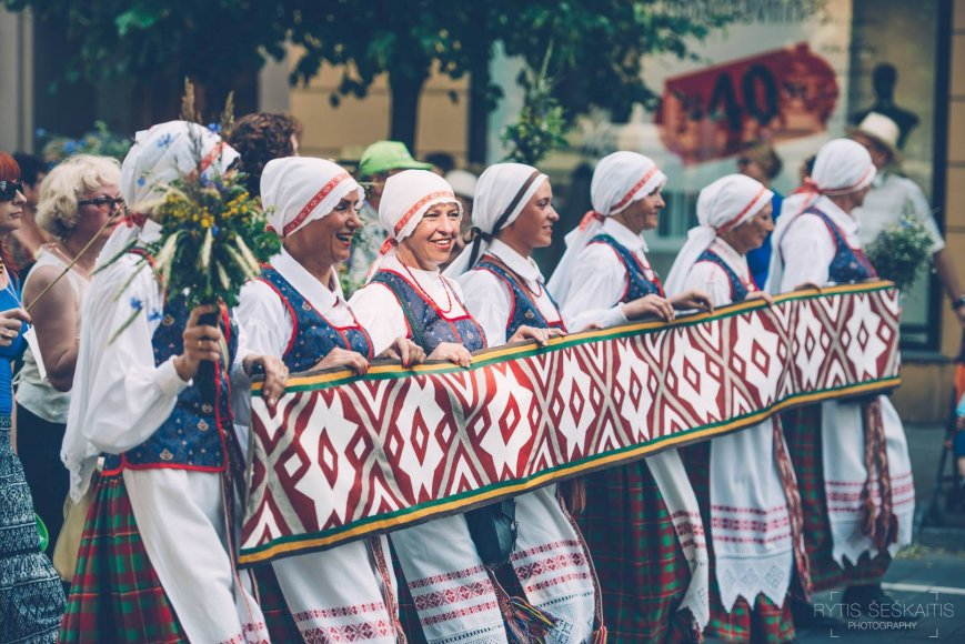 Dainų šventės eisena Vilniuje