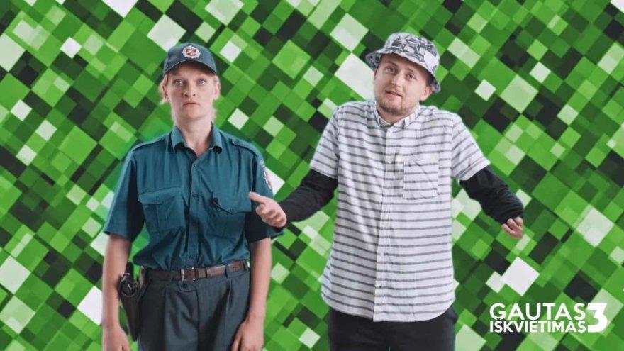 """Komedijos """"Gautas iškvietimas 3"""" aktoriai Giedrė Giedraitytė ir Mantas Katleris"""