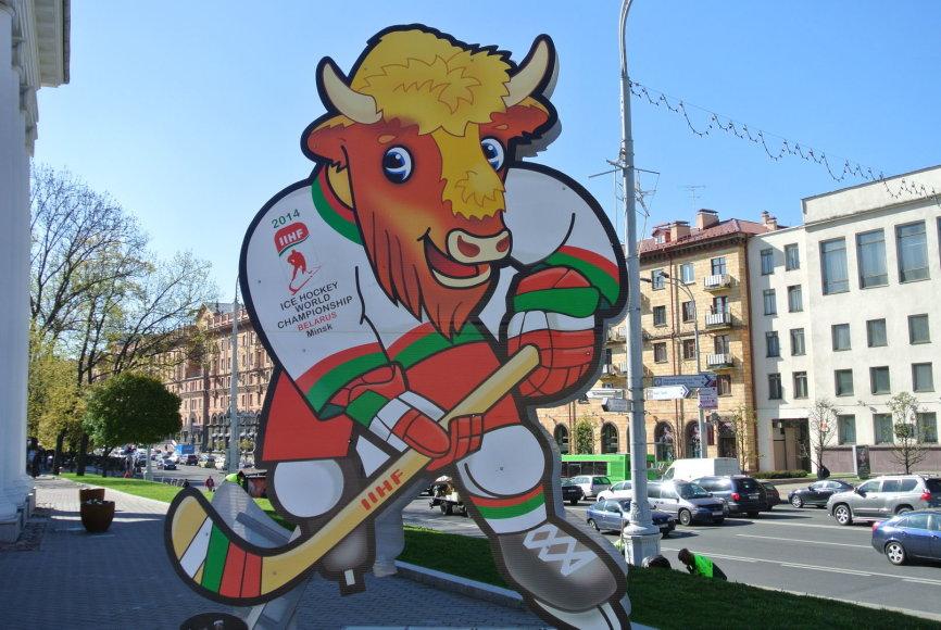 Minskas ruošiasi Pasaulio ledo ritulio čempionatui. Simbolis Volatas