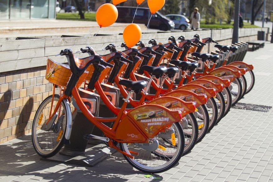 Oranžiniai dviračiai