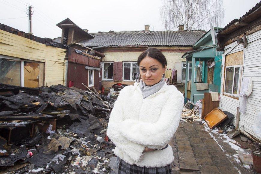 Vilniuje, Kalvarijų gatvėje, gyvenusios Rožės namus sausio 14-ąją prarijo gaisras.