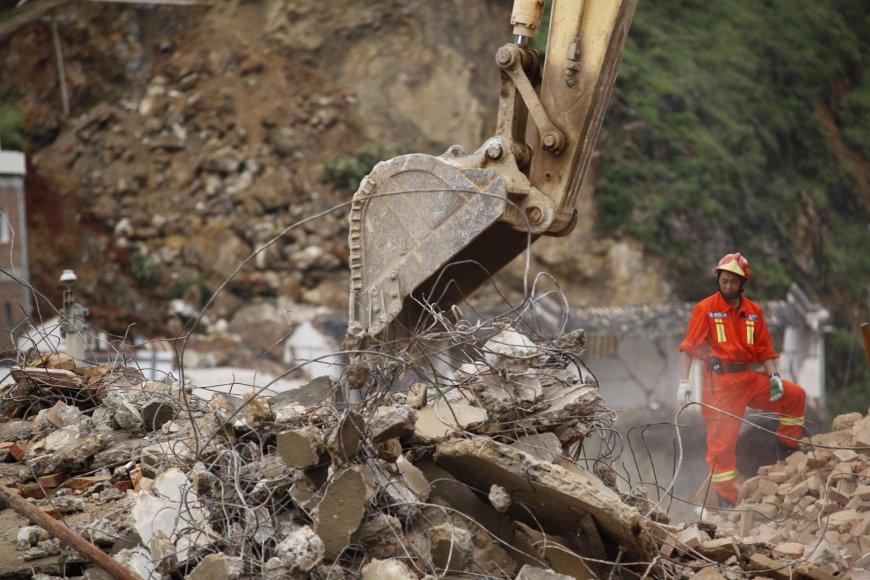 Žemės drebėjimo padariniai Kinijoje