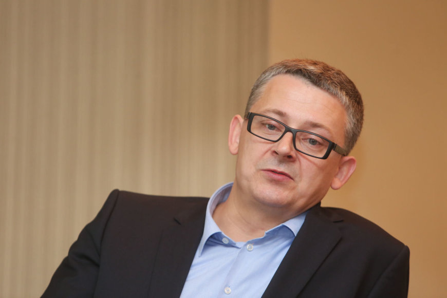 """""""Maxima LT"""" generalinis direktorius Žydrūnas Valkeris"""