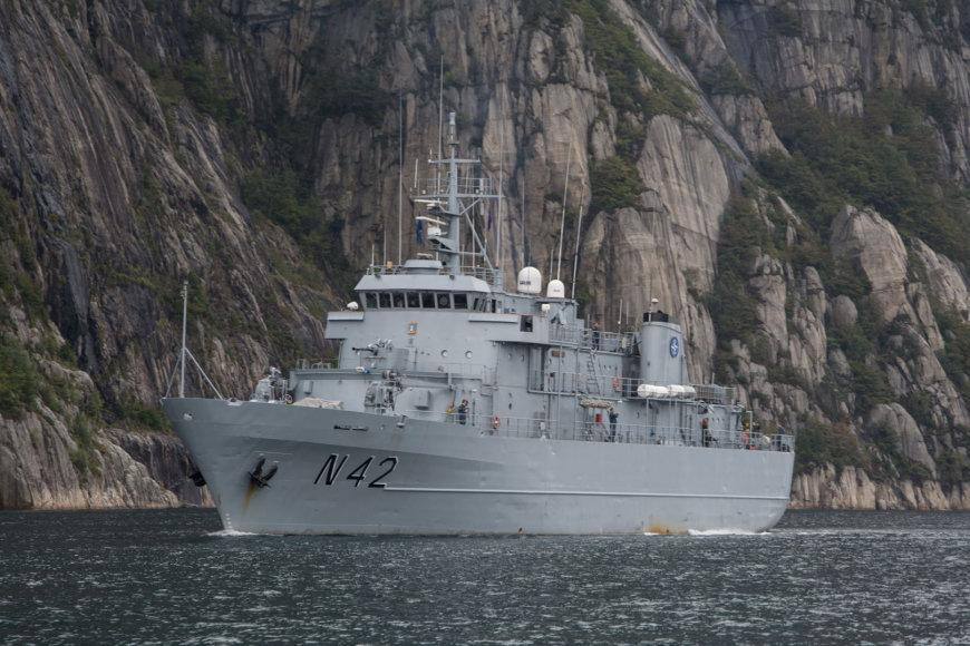 Lietuvos karininko vadovaujamas NATO laivų junginys lankėsi Norvegijoje