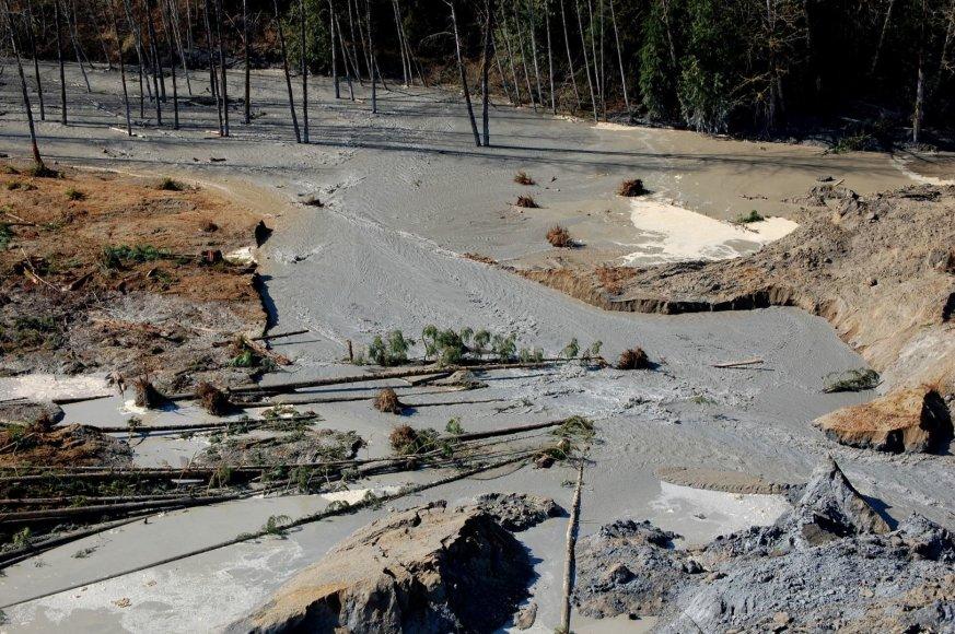 Žemės nuošliaužos padariniai