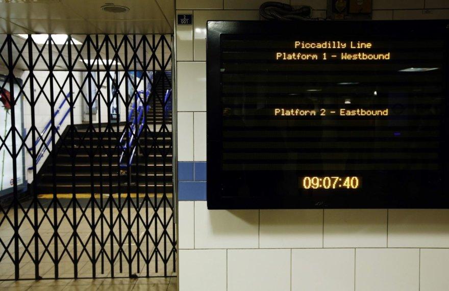Metro streikas Londone
