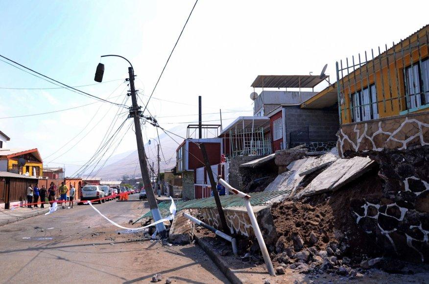 Žemės drebėjimo padariniai Čilėje