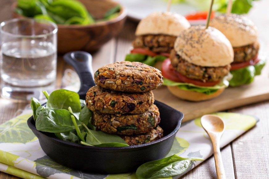Vegetariški burgeriai.