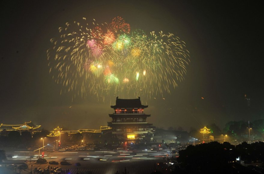 Naujųjų metų pagal mėnulio kalendorių sutikimas Kinijoje