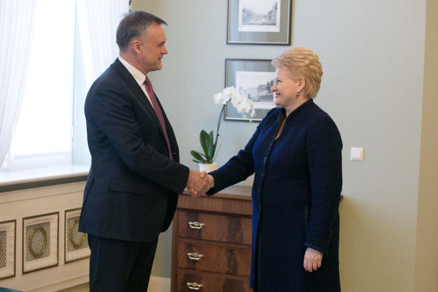 Dalia Grybauskaitė ir Robertas Dargis