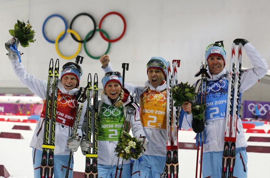 Tora Berger, Tiril Eckhoff, Ole Einaras Bjoerndalenas ir Emilis Hegle Svendsenas
