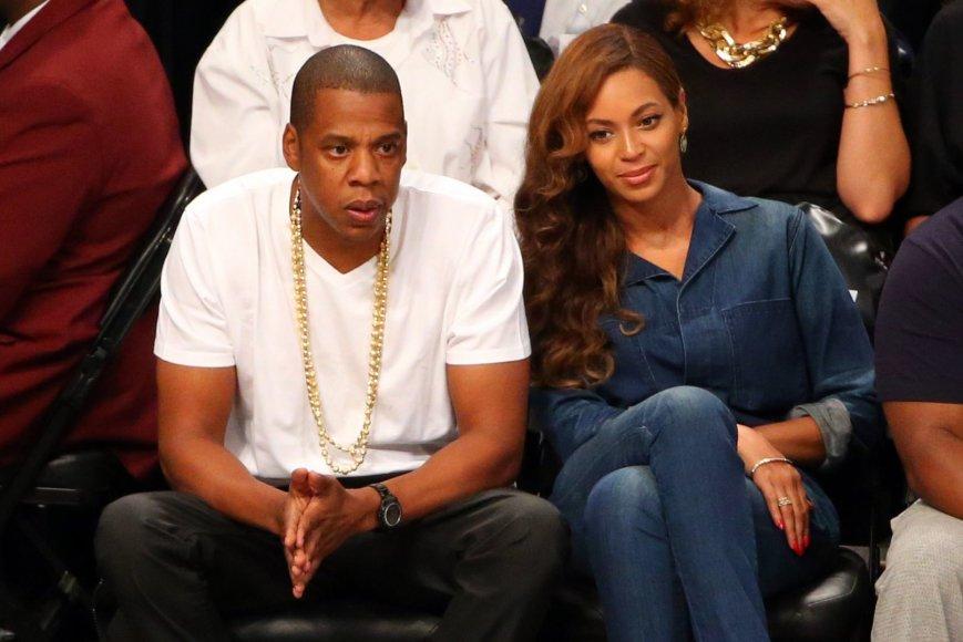 Jay Z ir Beyonce stebėjo NBA rungtynes