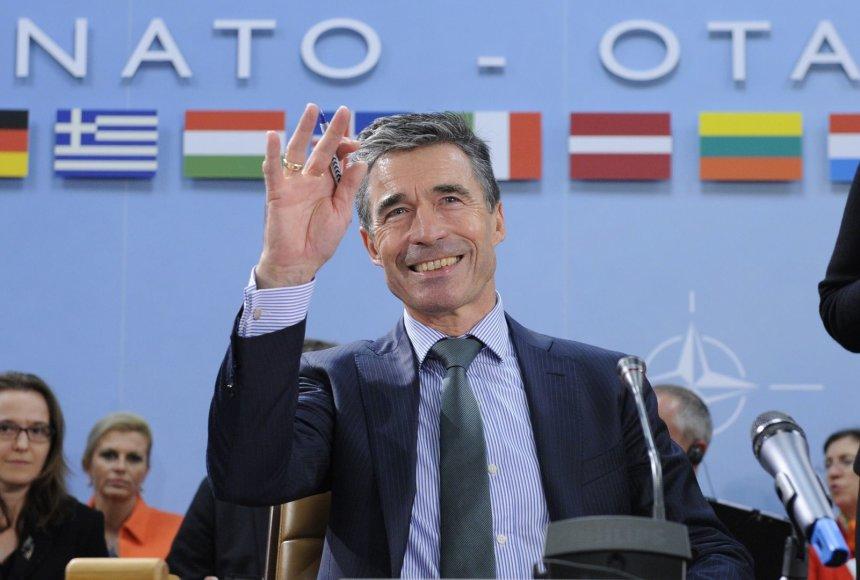 NATO generalinis sekretorius Andersas Foghas Rasmussenas