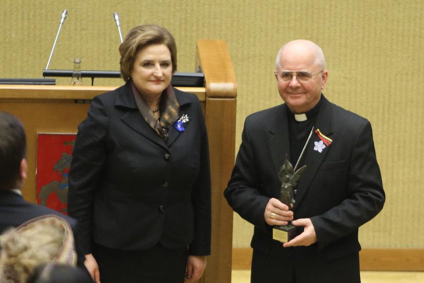 Loreta Graužinienė ir Sigitas Tamkevičius