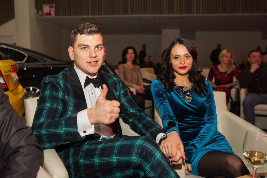 Rolandas Mackevičius su žmona Ieva