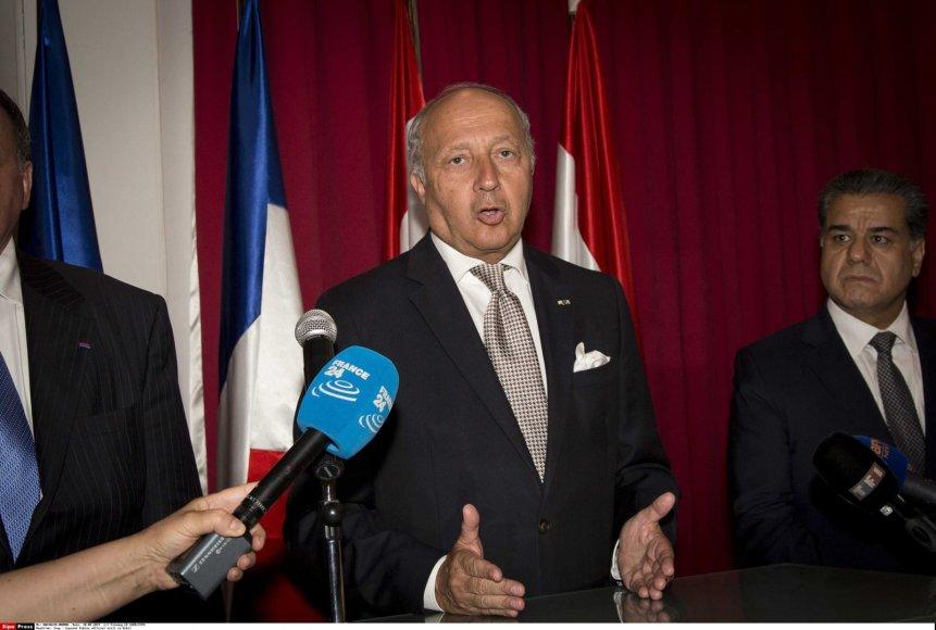 Prancūzijos užsienio reikalų ministras Laurentas Fabius