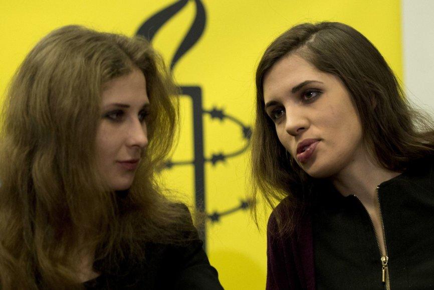 Maria Alyokhina ir Nadezhda Tolokonnikova