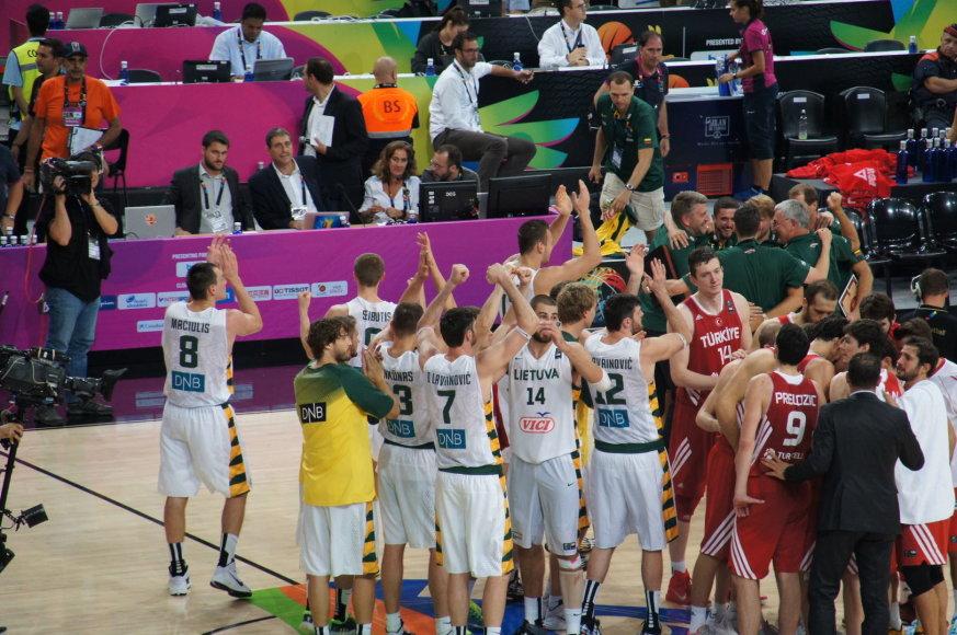 Lietuvos krepšinio rinktinės susitikimas su sirgaliais
