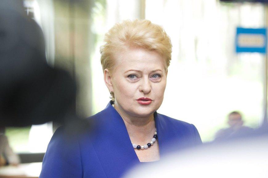 Dalia Grybauskaitė balsavo prezidento rinkimuose.