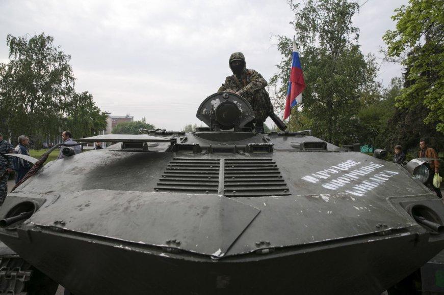 Rusų diversantas Slovjansko mieste
