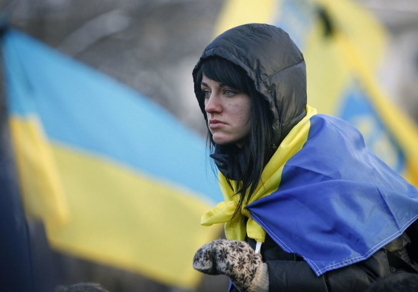 Protestuotoja Kijeve