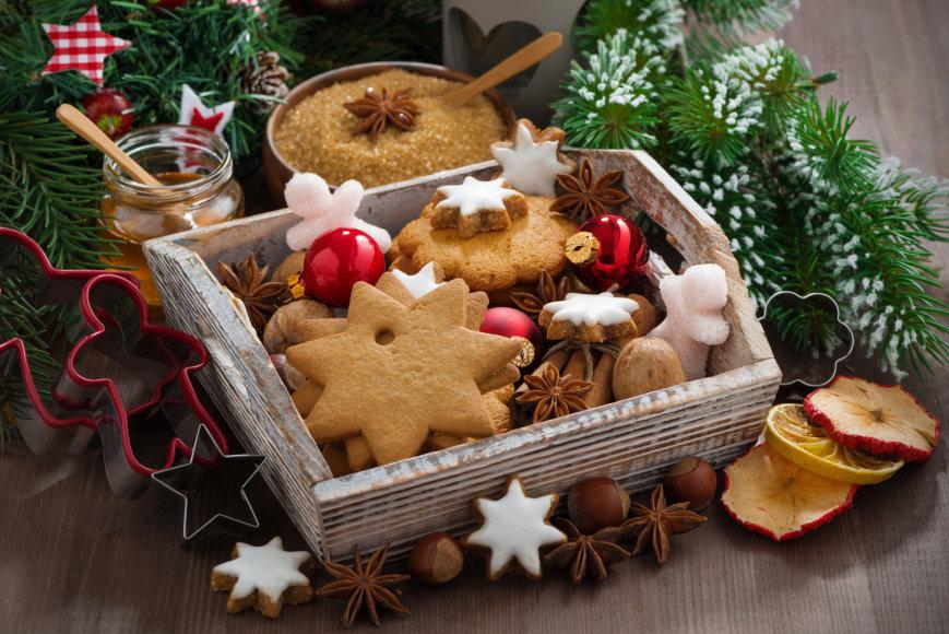 Kalėdiniai sausainiukai.