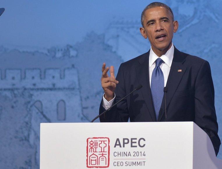 Barackas Obama APEC forume Pekine