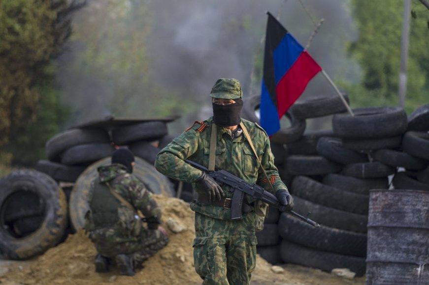 Rusų diversantai netoli Slovjansko miesto