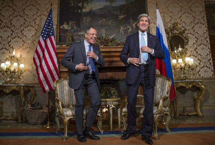Johno Kerry ir Sergejaus Lavrovo susitikimas Romoje