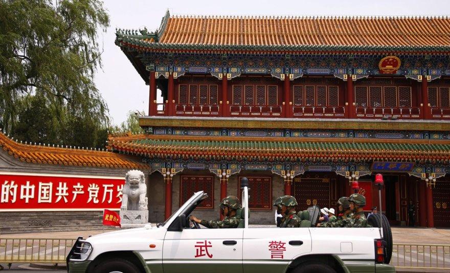 Sukarinta Kinijos policija Tiananmeno aikštėje