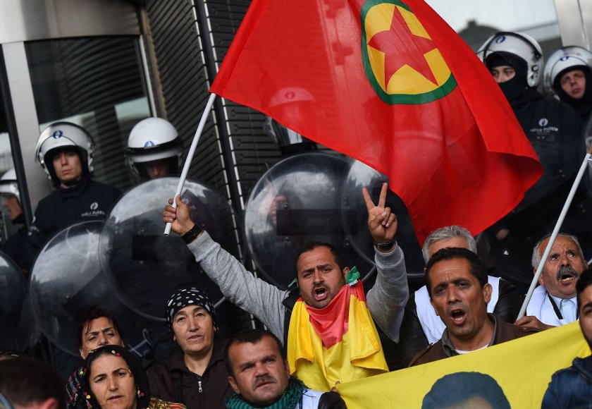 Kurdai protestuotojai