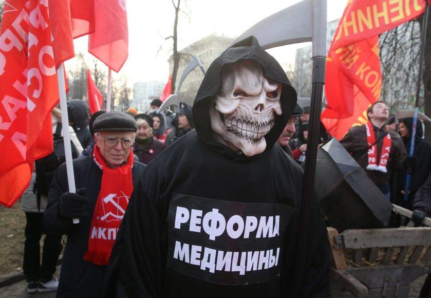 Medikų protestas Maskvoje