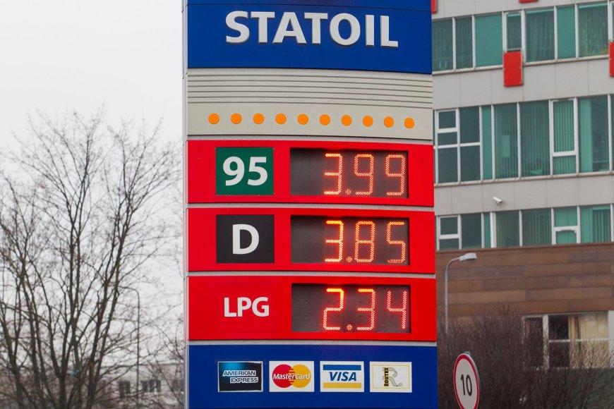 Gruodžio 18 dieną degalų kainos Vilniaus degalinėse