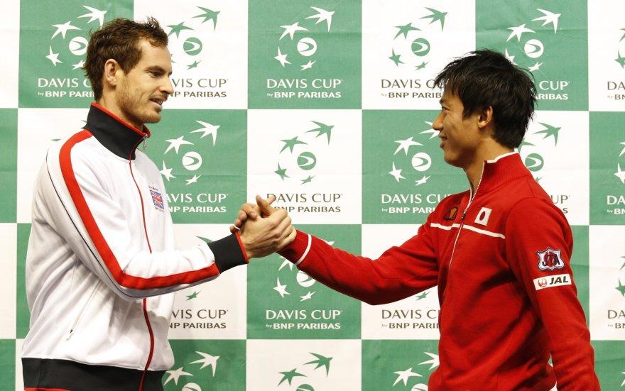 Andy Murray ir Kei Nishikoris
