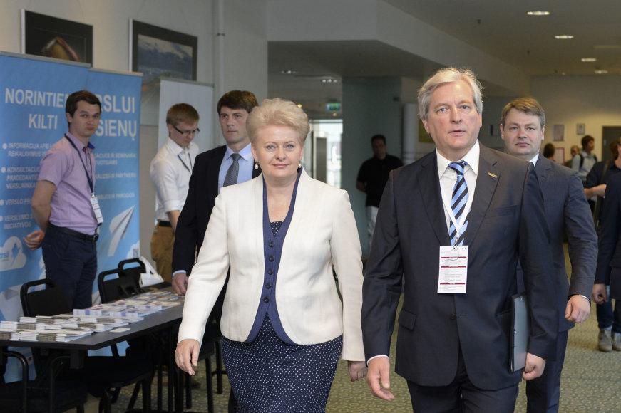 Forumą atidarė prezidentė Dalia Grybauskaitė
