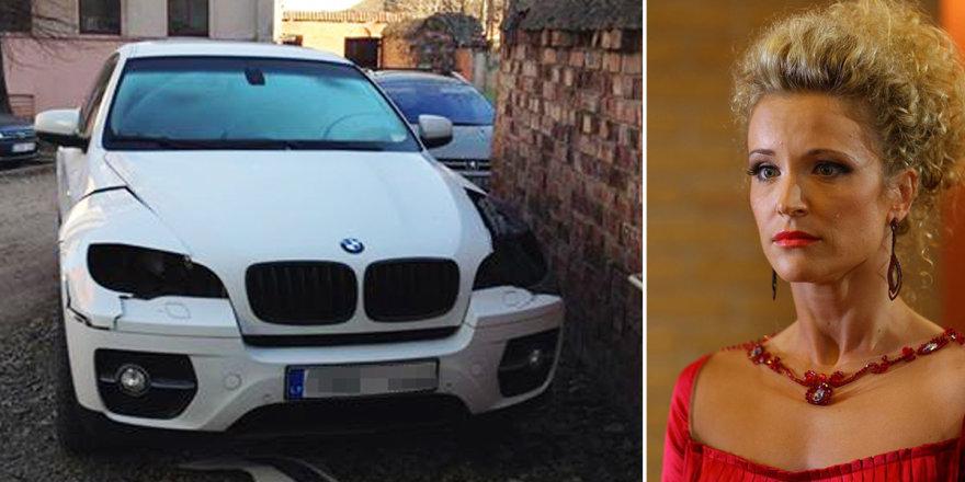 Vagys iš Editos Daniūtės BMW išlupo žibintus