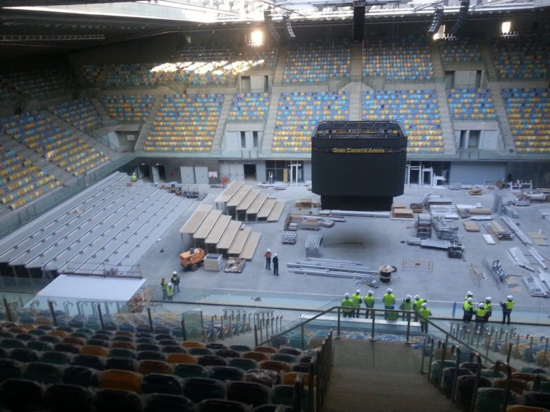 """Gran Canaria Arena"" dar nebaigta statyti"
