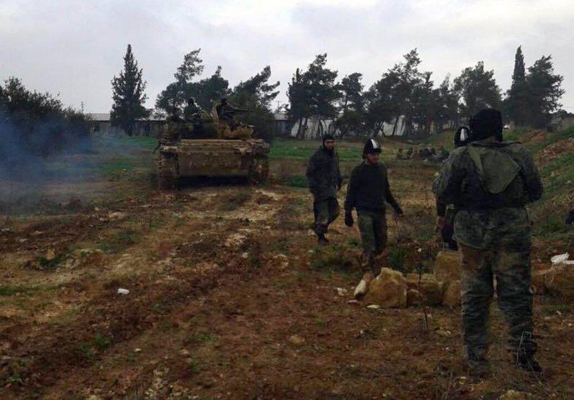 Džihadistų kovotojai Idlibo provincijoje