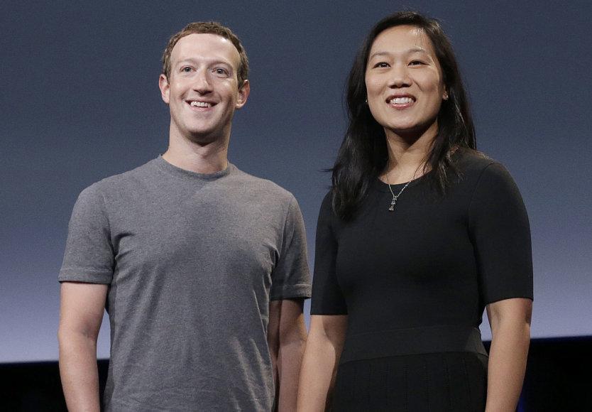 Markas Zuckerbergas su žmona Priscilla