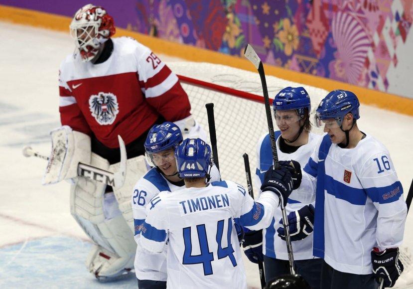 Suomiai iškovojo pirmą pergalę
