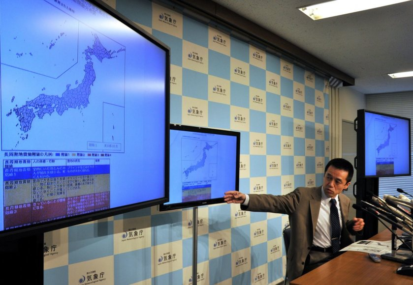 Japonijos meteorologijos agentūros spaudos konferencija