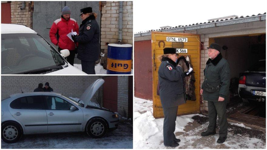 Panevėžio policija skyrė dėmesio garažų savininkams
