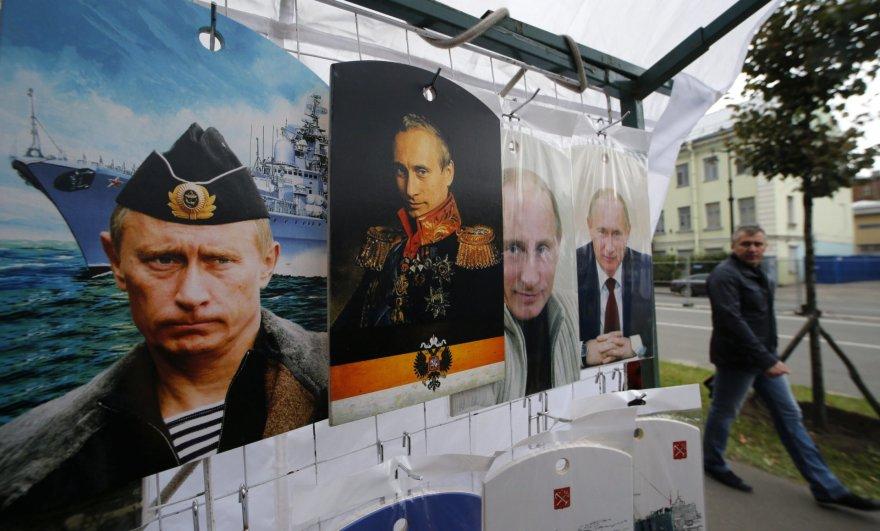 Pjaustymo lentos su Putino atvaizdu